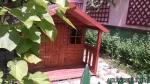 Casita de madera FELIX para niños instalada por los propios clientes en MADRID