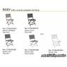 Mesa y sillas ROSY Small (Plegable)
