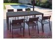 Mesa extensible Artimes y sillón apilable Luis - 1