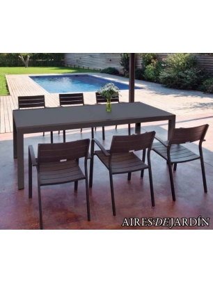 Mesa extensible artimes y sill n apilable luis mesa for Mesa exterior diseno