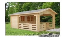 foto exterior Caseta de madera Sylvi  2  de 350x220/560 cm.
