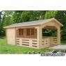 Caseta de madera Sylvi  2  de 350x220/560 cm.