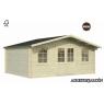 Cabaña de madera Britta 2 446x446 cm.