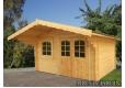 Foto 1 casa de madera Sally 2 Palmako para jardin antigua Sally con puerta doble