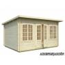 Caseta de madera Lisa 1 de 420x320 cm.