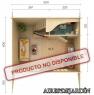 Casa de madera Emily 2 de 520x420 cm.