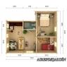 Casa de madera Emily 3 de 660x780 cm.