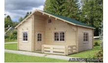foto exterior Casa de madera Emily 4 de 590x570 cm.
