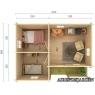 Casa de madera Sandra 1 de 620x470 cm.
