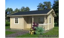 foto exterior Casa de madera Sandra 2 de 791 x 370/520 cm.