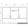 Casa de madera Sandra 2 de 791 x 370/520 cm.