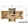Casa de madera Anna 1 de 820x520 cm.