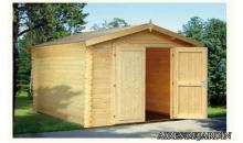 foto exterior Garaje de madera Roger 1 de  296x380 cm.