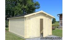 foto exterior Garaje de madera Roger 2 de 350 x 530 cm (con puerta de dos hojas)