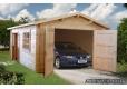 Garaje de madera Roger 3 con dos puertas Palmako antiguo Garage de madera 3