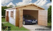 foto exterior Garaje de madera Roger 3 de 380x570 cm.