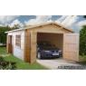 Garaje de madera Roger 3 de 380x570 cm.