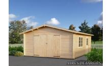 foto exterior Garaje de madera Roger 4 de 450x550 cm.