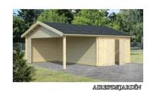 foto exterior Garaje de madera Roger 6 de 615x530 cm