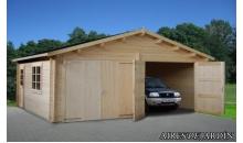 foto exterior Garaje de madera Roger 7 de 595x530 cm.