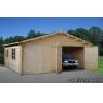Garaje de madera Roger 7 de 595x530 cm.
