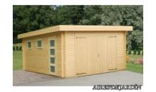 foto exterior Garaje de madera Rasmus de 380x570 cm.