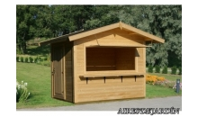 foto exterior Kiosko de madera Stella 1 de 250x180 cm.