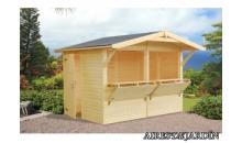 foto exterior Kiosko de madera  STELLA 2 de 273 x 190 cm.