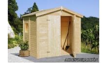 foto exterior Cobertizo de madera Dan 1 de  243x190 cm.