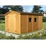 Cobertizo de madera Dan 3 de 273x370 cm.