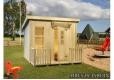 Foto 1 casita de madera infantil Harry cubierta plana incluye tela asfáltica para exterior