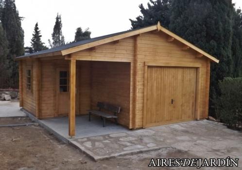 Garaje de madera roger 5 de 530x570 cm por aires de - Garage de madera ...